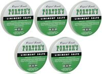 5 Pack Orginal Formula Porter's Liniment Salve 2 Oz Cuts Burns