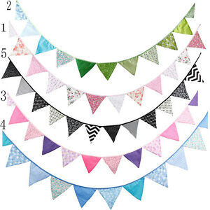 3-2M-Cotton-Colorful-Flags-Pennant-Bunting-Banner-Wedding-Birthday-Party-Decor
