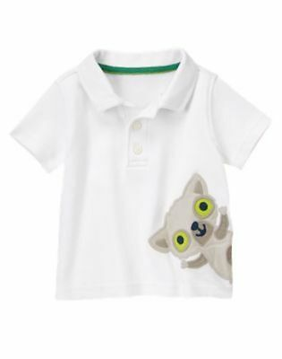 Nwt Gymboree Lemur Lagoon White Collared Shirt Size 0-3/3-6 Months
