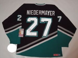 SCOTT-NIEDERMAYER-SIGNED-VINTAGE-ANAHEIM-MIGHTY-DUCKS-JERSEY-LICENSED-JSA-COA
