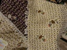 ORIENTAL TAPESTRY COTTON BEIGE PURPLE FLORAL BED SPREAD MATCHING 2 PILLOW CASE