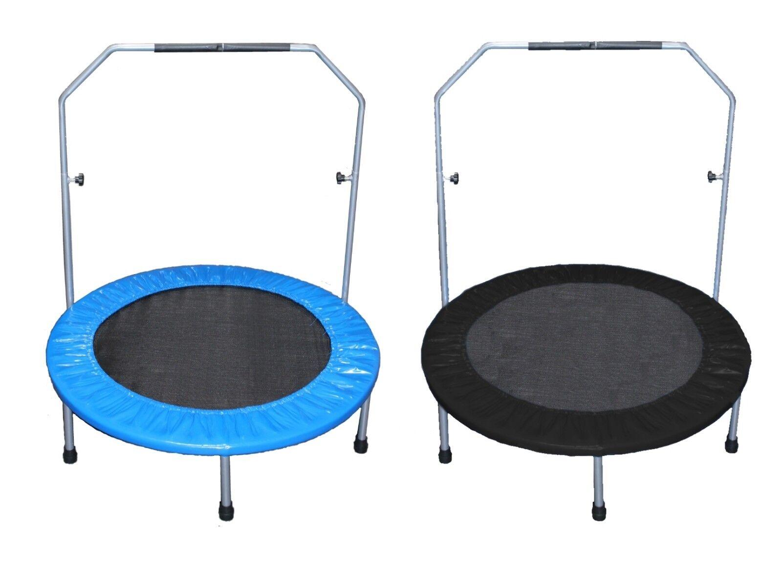 Fitness Trampolin 100cm Minitrampolin Jumping 1m Randabdeckung blau blau blau oder schwarz e1ca91