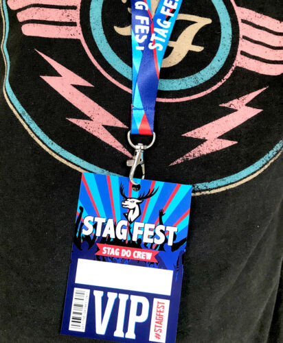 Stag Do Crew STAGFEST Festival Stag Do Party VIP Pass Lanyards Favours