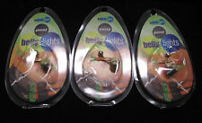 NEW LOT of 3 Body Art Piercing Belly Rings Flipo Brand Multiple Colors