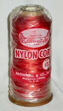 BROWNELL Large 1/4 lb Spool #3 Red Nylon Serving String for Bowstring Making
