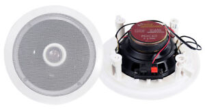 Pyle-PDIC60-6-5-034-250W-2-Way-Round-In-Wall-Ceiling-Home-Speakers-System-Audio