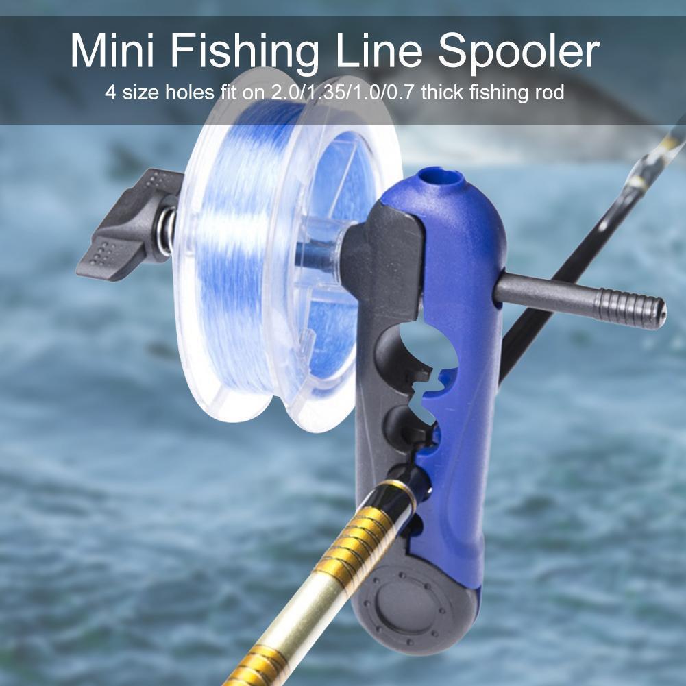 Fishing Line Winder Spooler Portable Reel Spool System Fish Tackle Tool FG