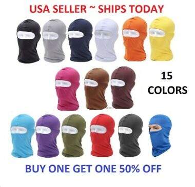2-Pack Lycra Full-Face Balaclavas (15 colors)
