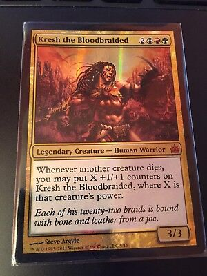 ~ Magic MTG Kresh the Bloodbraided ~ Shards of Alara ~ NearMint//Excellent