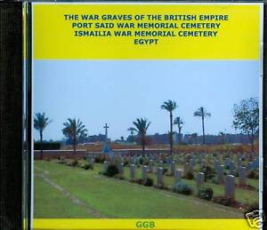 WAR-GRAVES-OF-PORT-SAID-amp-ISMAILIA-CD-ROM