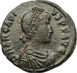 ARCADIUS-crowned-by-Victory-395AD-Rare-Ancient-Roman-Coin-Chi-Rho-Christ-i29226