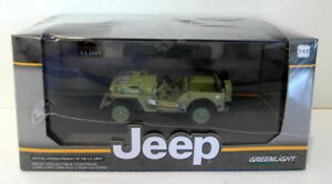 Greenlight-1-43-Scale-diecast-86307-US-Army-Will-039-ys-Jeep-Green