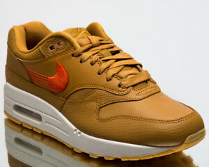 ec58397ecf Nike Wmns Air Max 1 Premium Women New Sneakers Wheat Team Orange ...