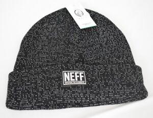 dc375e67651 Unisex Mens Neff Black White Ryder Dye Beanie Winter Hat New NWT