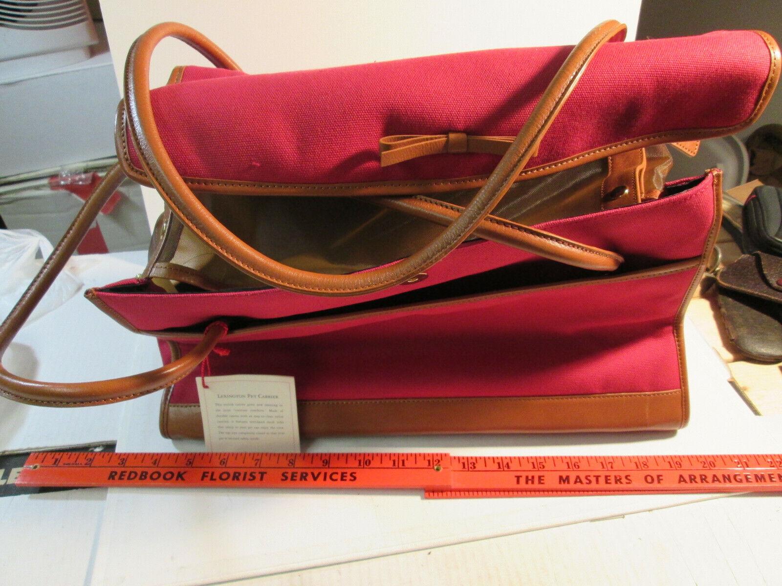 Lexington Pet Carrier Handbag - Leather Tote