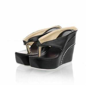 Women-039-s-Roman-Thong-Sandals-Slipper-Platform-Wedge-Heels-Slides-Summer-Party-Hot