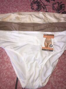 WARNER S ~ 3 NEW Womens No Muffin Top Polyester Hipster Underwear ... 97bfcbd7f9
