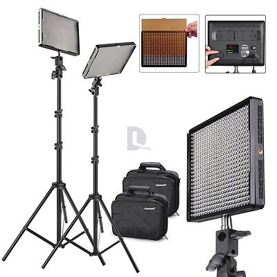 2x Aputure Amaran AL-528S LED Video 5000lux/m Photography light Kit + 2x Stand