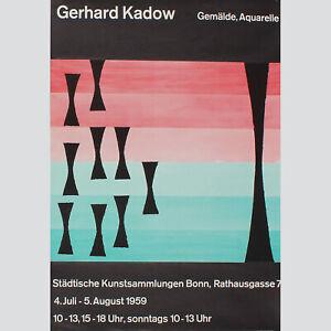 Gerhard-Kadow-Gemalde-Aquarelle-Ausstellungsplakat-Bonn-1959