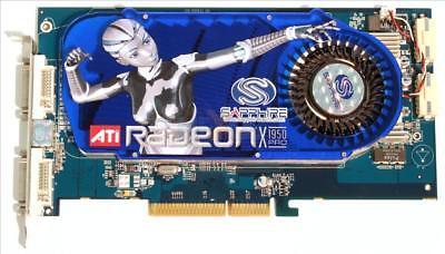 Sapphire X1950 PRO Dual DVI 256MB DDR3 256bit AGP RARE Videocard