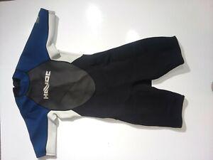 LL Bean Wet Suit Size Medium Sleeveless Blue Fishing Scuba Diving Gear