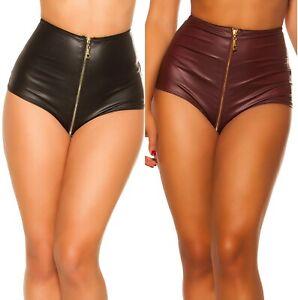 Koucla-Gogo-Wetlook-Hotpants-mit-Zip