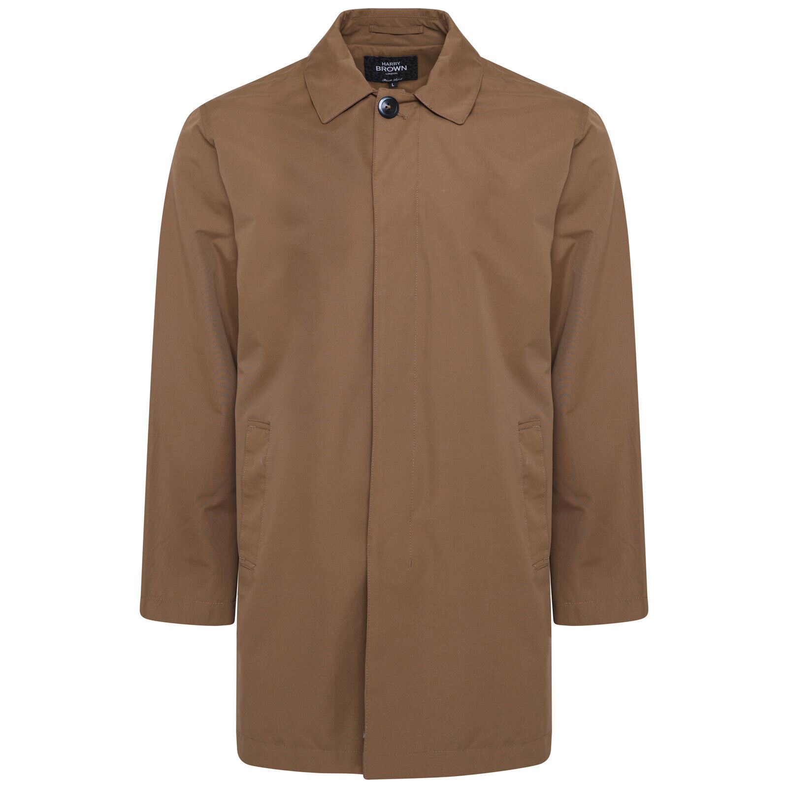 Harry Brown Single Breasted Big & Tall Trench Coat in Mud