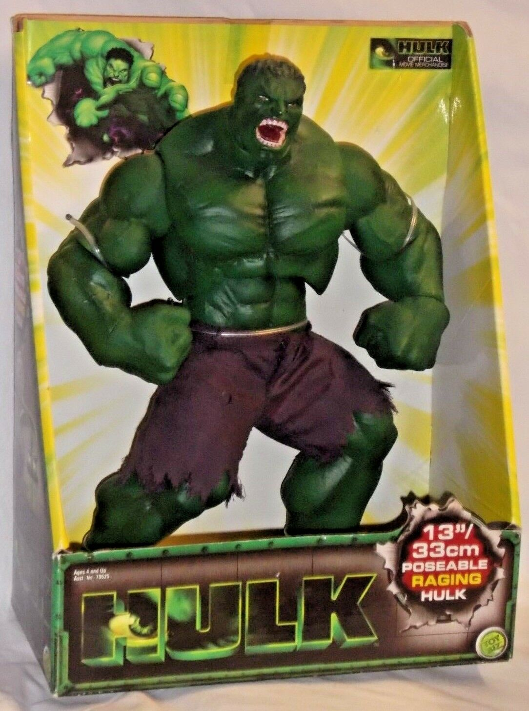 TOYBIZ Marvel redocast mean INCREDIBLE HULK RAGING Poseable Action Figure 2003