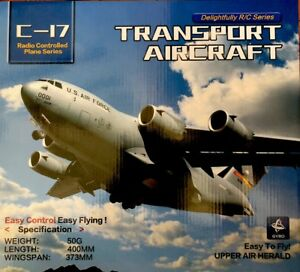 C17-Transport-RC-Plane-Easy-to-Fly-Length-400mm-x-Wingspan-373-mm-2-Motors