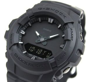 CASIO-G-Shock-G100BB-1A-All-Matt-Black-Out-Monotone-LCD-Very-Limited