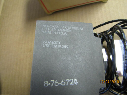 NEW CUTLER-HAMMER C400LG4A COVER CONTROL KIT PILOT LGHT