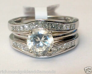 Image Is Loading Solitaire Enhancer Diamonds Ring Guard Wrap 14k White