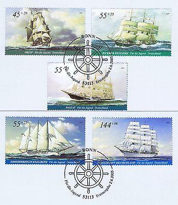 Energisch Brd 2005: Segelschiffe Jugendmarken Nr 2464-2468 Mit Bonner Sonderstempeln! 1906 Starke Verpackung