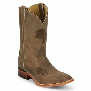 Nocona-MDSHSU12-Men-039-s-Sam-Houston-State-Brown-Cowhide-Branded-College-Boots