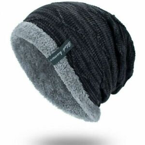 buy popular 9eeb1 108fb Image is loading Winter-Beanies-Slouchy-Chunky-Hat-for-Men-Women-
