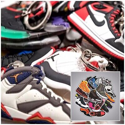 Random Pick Only! 20 Different Shoe Keychains /& 20 Shoe Stickers 40 Pieces