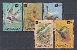 Barbade-674-78-Oiseaux-Oiseaux-MNH