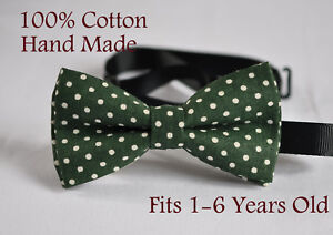 Boy Kids Baby Toddler 100/% Cotton Red White Dots Bow Tie Bowtie 1-6 Years Old