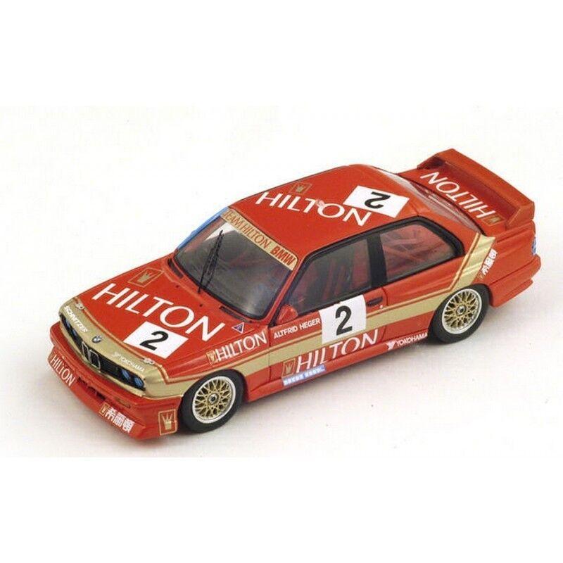 SPARK Model sa035 BMW E30 M3 N. 2 WINNER MACAU Guia CORSA 1988 a.heger 1:43 MODEL
