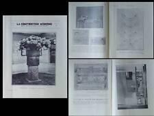 CONSTRUCTION MODERNE 1931 TOITS TERRASSES, MENKES, BARSACQ, ART DECO, SUBES