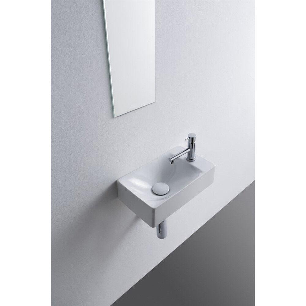 Lavandino Lavabo bagno appoggio sospeso Design soft in ceramica - 2 Misure