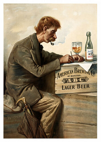 vintage Beer advertising poster reproduction. American Brewing Co