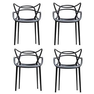IT- Offerta 4 sedie MASTERS Kartell nere | eBay
