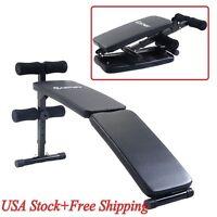 Gym Home Modern Fitness Arc-shape Decline Sit Up Bench Board Workout Folding Us