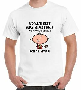 Image Is Loading Worlds Best Big Brother Men 039 S 18th