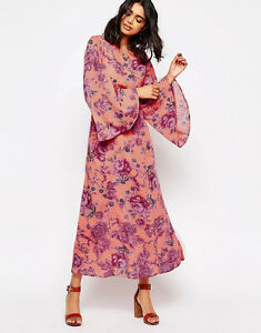 NWT-FREE-PEOPLE-BELL-SLEEVE-CLEMENTINE-MAXI-DRESS-SZ-0