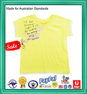 GENUINE-AUST-QLTY-Kids-Girls-Sketch-Summer-Short-Sleeve-Tee-T-Shirt-Top-SALE