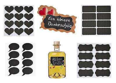 HobbyFun Tafelfolien 3 Bögen Sticker Herzen