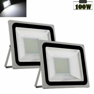 2x-100W-LED-Flood-Light-Outdoor-Lighting-Spotlight-Garden-Yard-Lamp-Cool-White