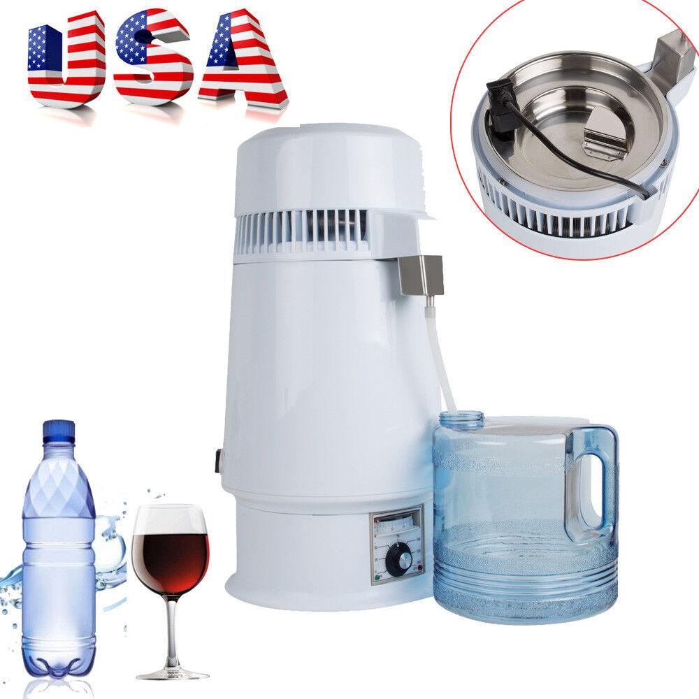 1Gal 4L 750W Pure Water Distiller Electric Dental Medical Lab Home Distill Water